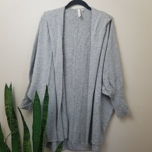 robbi & nikki cashmere wool cardigan sweater gray